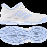 Alternate View 2 of Adizero Club Kids Tennis Shoe - White/Blue