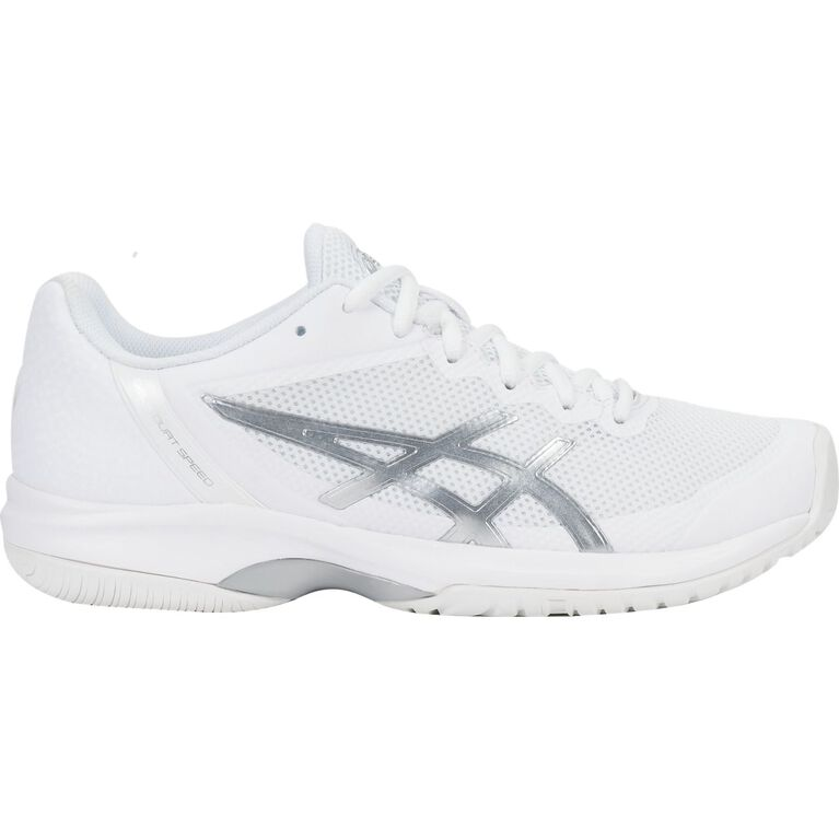 Asics GEL-Court Speed Women's Tennis Shoe - White/Silver