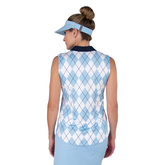 Alternate View 3 of Cape May Powder Collection: Sleeveless Argyle Polo Shirt