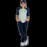Alternate View 1 of Limonata Collection: Short Sleeve Dot Print Quarter Zip Polo Shirt