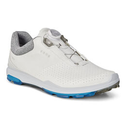 6b8416ccb7ec ECCO BIOM Hybrid 3 BOA Mens Golf Shoe White Blue ...