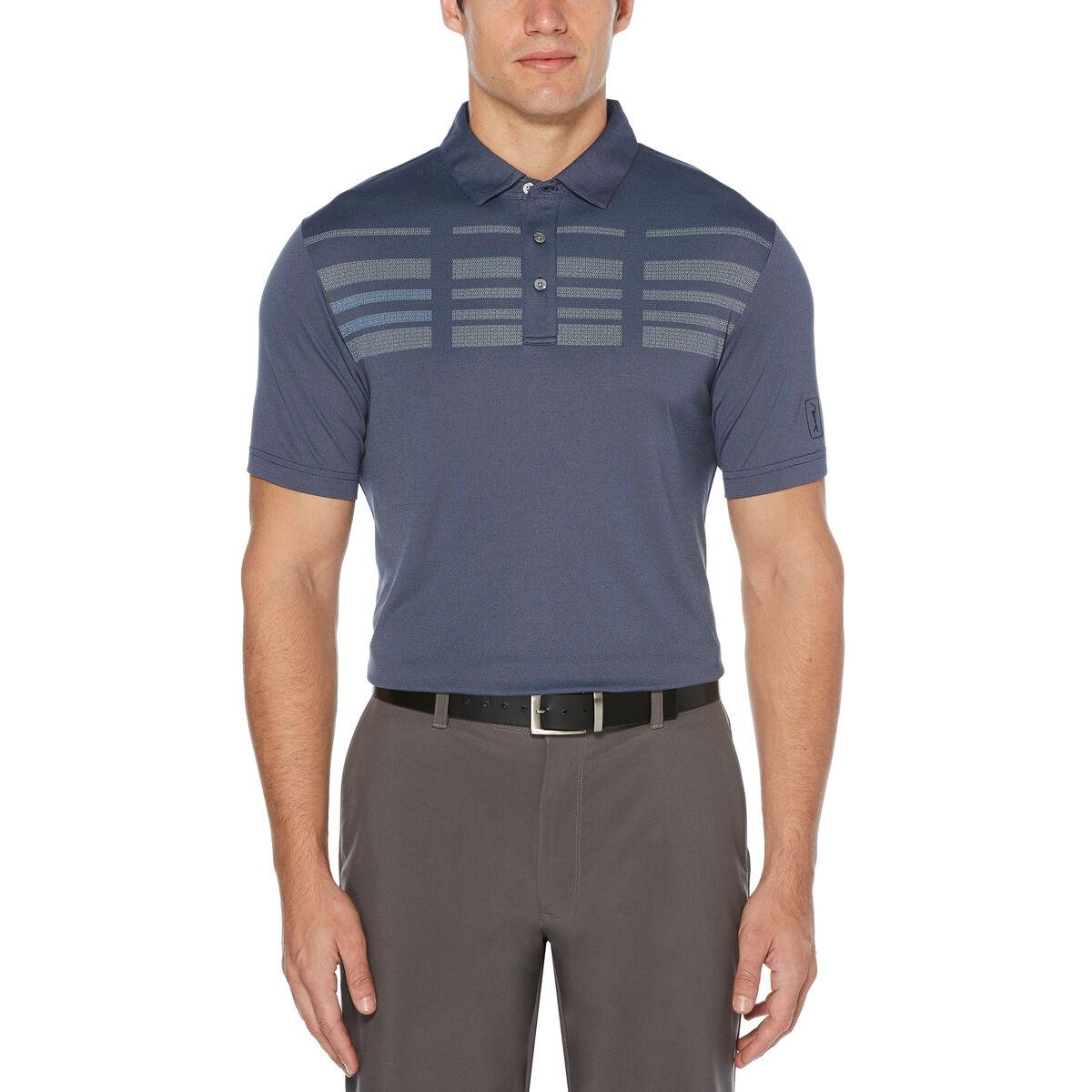 5bbd5c44 PGA TOUR Broken Stripe Oxford Short Sleeve Polo Golf Shirt | PGA ...