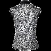 Alternate View 1 of Tiana Black Tiger Sleeveless Polo Shirt