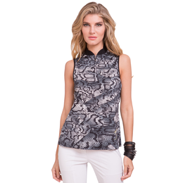 Fiji Collection: Sleeveless Snake Print Top