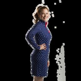 SolStyle Cool Long Sleeve Printed Zip Mock Dress
