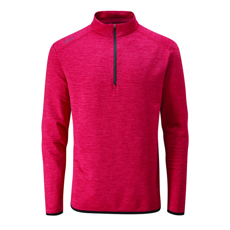Elden Long Sleeve Heathered Quarter Zip