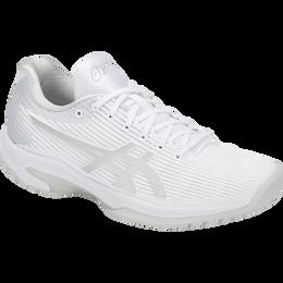 Asics Solution Speed FF Women's Tennis Shoe - White/Silver