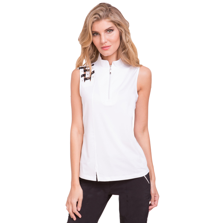 Apollo Collection: Sleeveless Shoulder Detailed Top