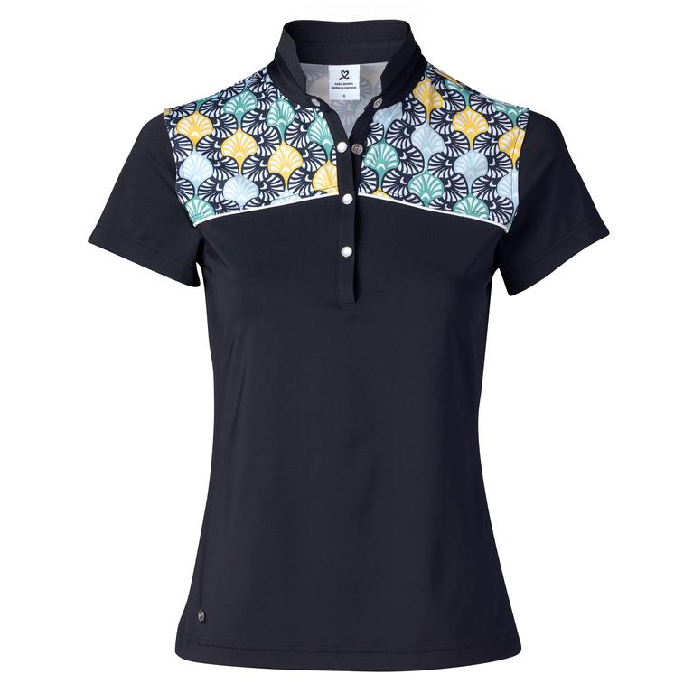 Feminine Sport Collection: Sofia Short Sleeve Shoulder Print Polo