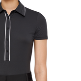 Alternate View 4 of Black and Blue Collection: Flor Trim Short Sleeve Polo