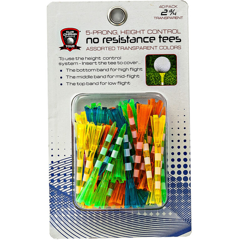 2.75in No Resistance Tees w/ Stripes - 40-Pack