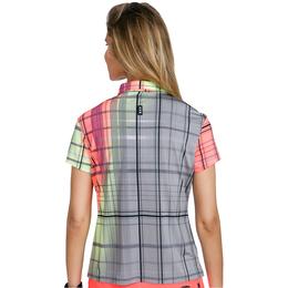Super Nova Collection: Short Sleeve Printed Plaid Polo Shirt