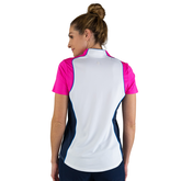 Alternate View 7 of Rojito Collection: Short Sleeve Colorblock Zip Top