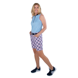 Cape May Collection: Playoff Tartan Plaid Golf Shorts
