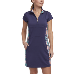 Tropical Collection: Short Sleeve Printed Panel Dress