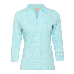 St. Tropez Collection: Bali Zig Zag Print Open Collar Shirt