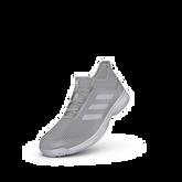 Alternate View 4 of Adidas Adizero Club K Juniors Tennis Shoe - Grey/Purple