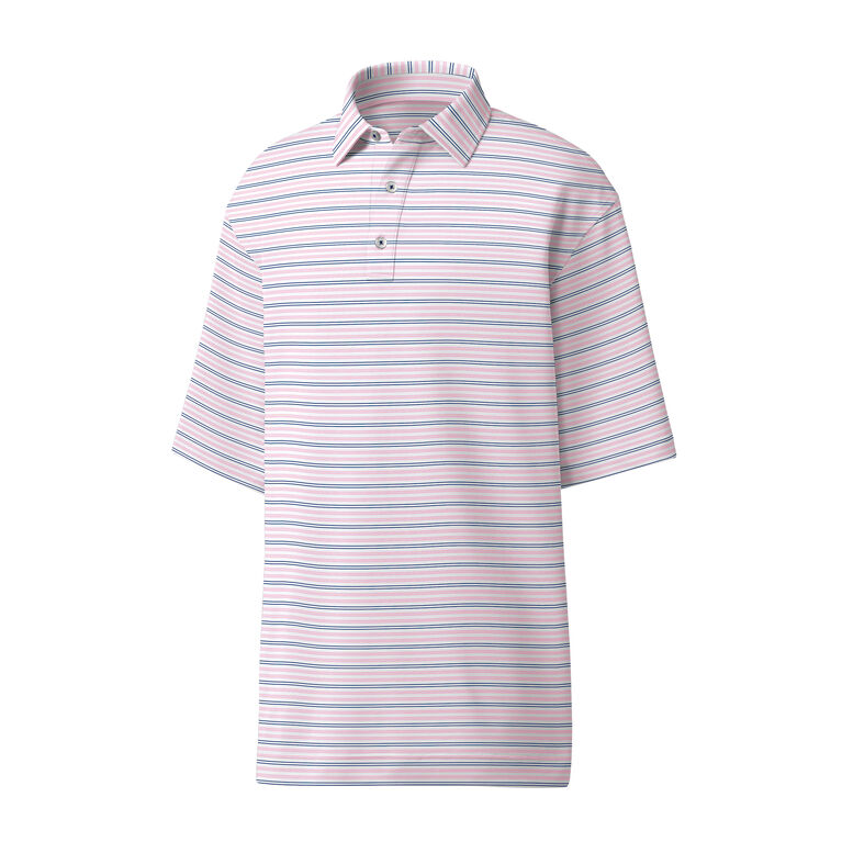 Athletic Fit Lisle Pinstripe Self Collar