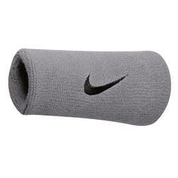 Nike Swoosh Double Wristbands - Silver/Black
