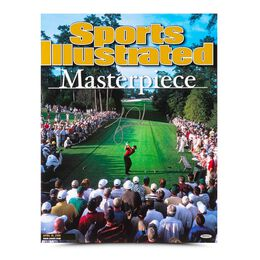 Tiger Woods Autographed Sports Illustrated Cover Print 2001 Masters