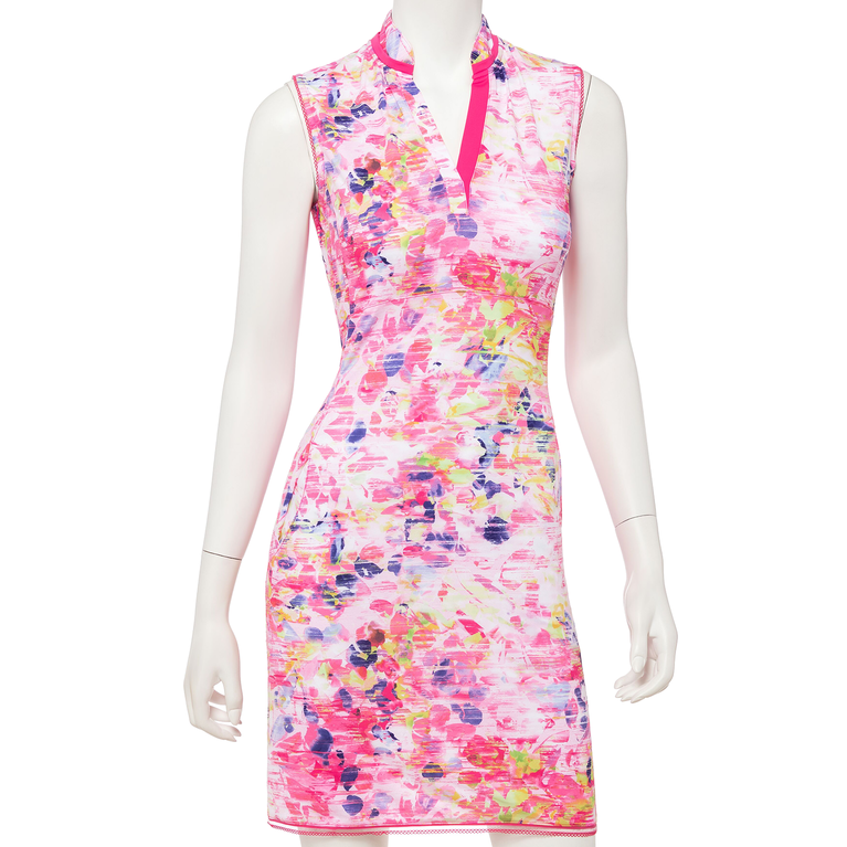 Soleil Collection: Sleeveless Floral Print Dress