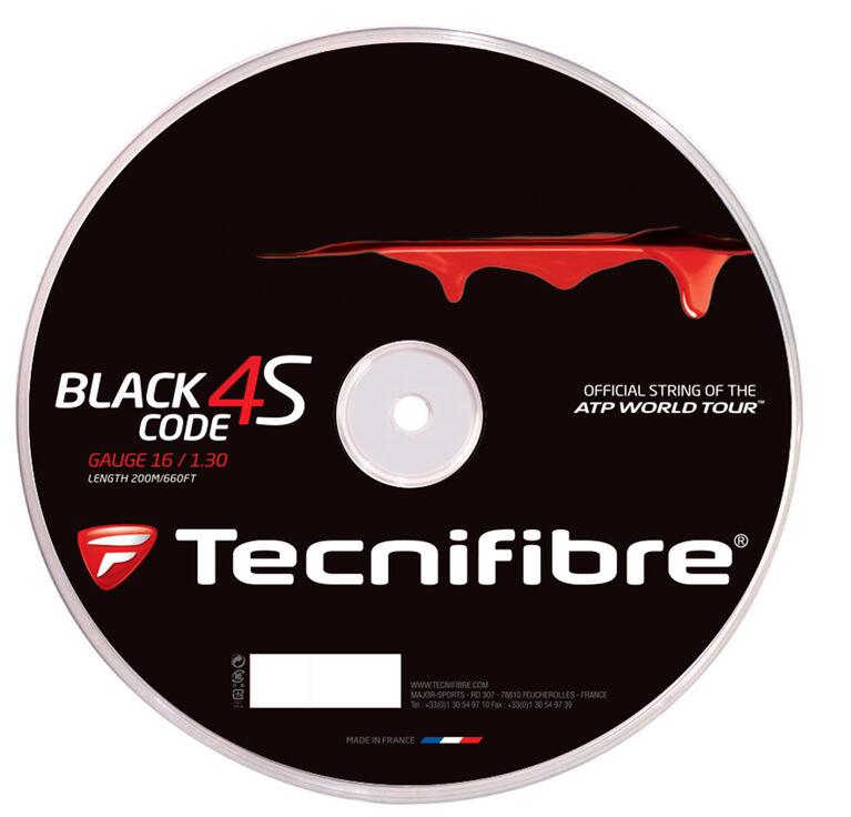 Tecnifibre Black Code 4S 16 Gauge String Reel - Black