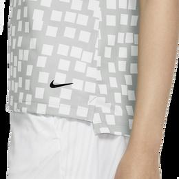 Dri-FIT Women's Sleeveless Grid Printed Golf Polo