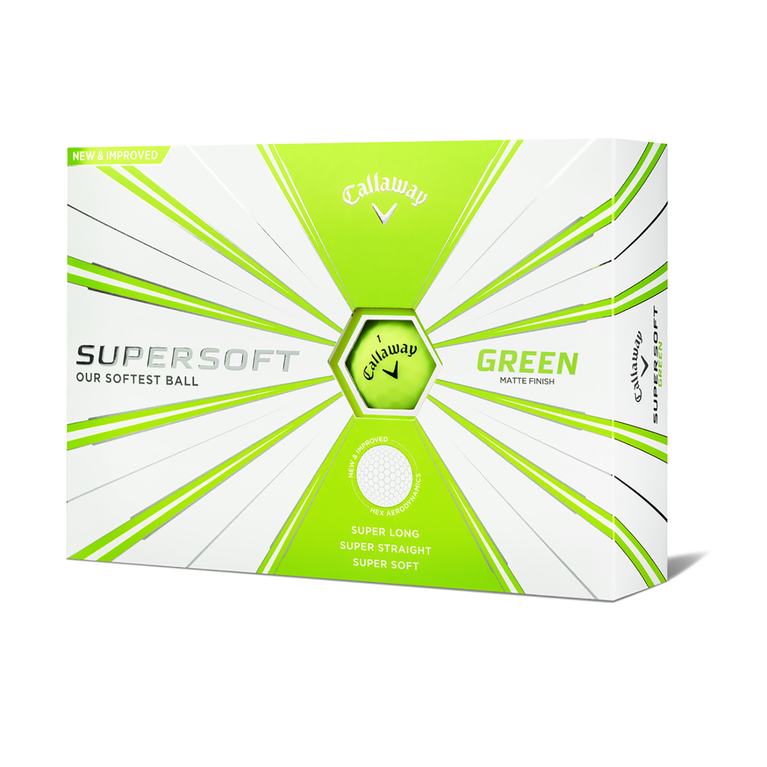 Supersoft Matte Green Golf Balls - Personalized