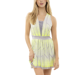 Pleated Ombre Sleeveless Dress