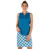 Alternate View 1 of Ocean Breeze Collection: Striped Collar Sleeveless Polo
