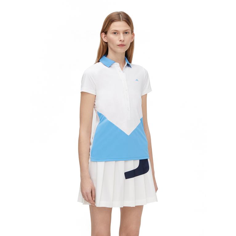 Bea Short Sleeve Colorblock Polo