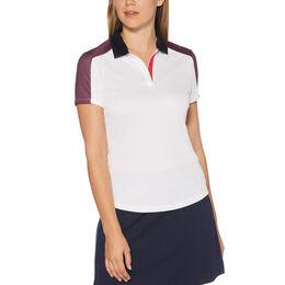 Sail Away Collection: Short Sleeve Mini Grid Print Polo Shirt