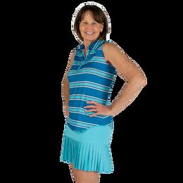 Ocean Breeze Collection: Sleeveless Striped Women's Polo