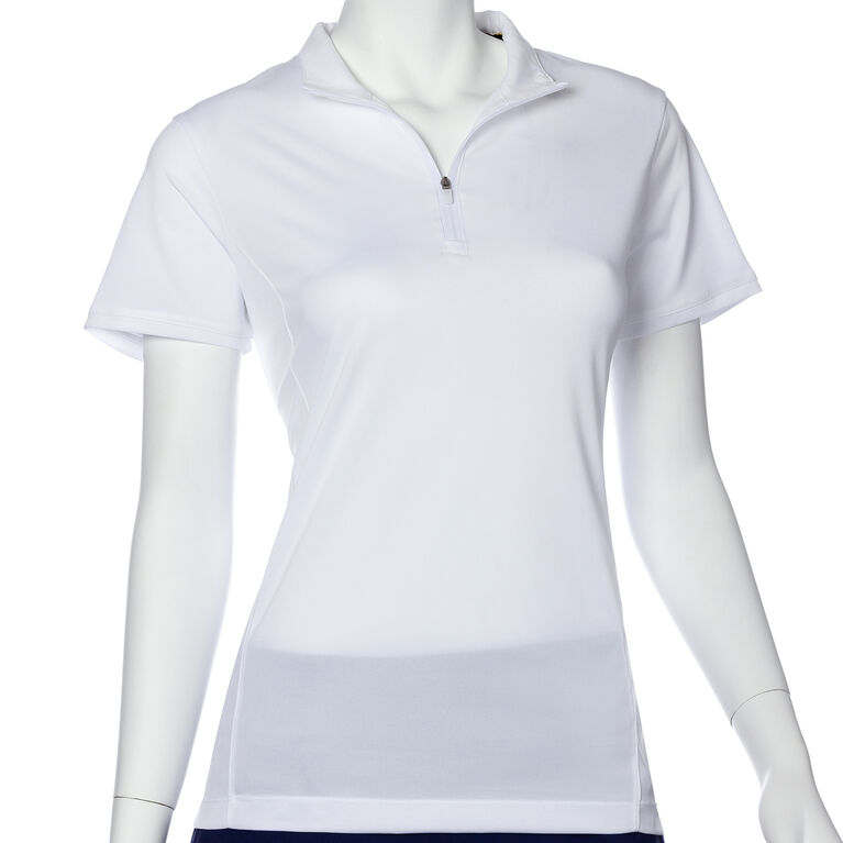 EP Pro Short Sleeve Contrast Trim Convertible Collar Polo
