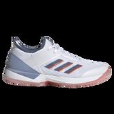 Adizero Ubersonic 3 Women's Tennis Shoe - White/Blue