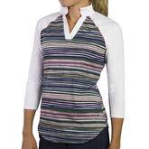 Jofit 3/4 Sleeve Contrast Stripe Polo