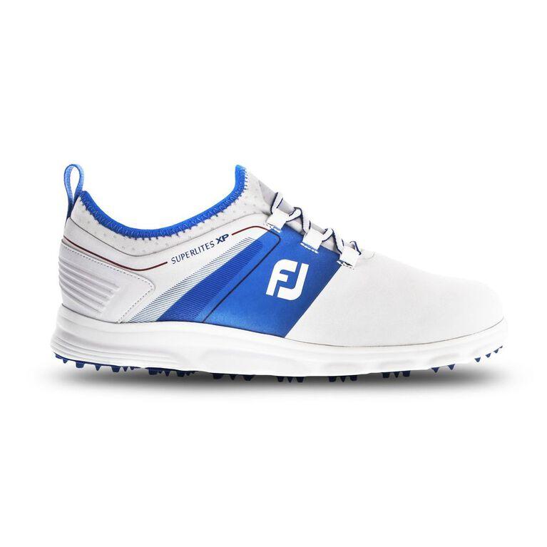 SuperLites XP Men's Golf Shoe - White/Blue (Previous Season Style)