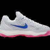 Zoom Cage 3 Women's Tennis Shoe - Grey/Pink