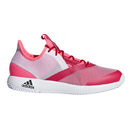 adidas adizero Defiant Bounce Women's Tennis Shoe - White/Pink