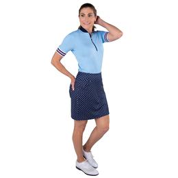 """Cape May Collection: Mina Polka Dot 17"""" Long Golf Skort"""