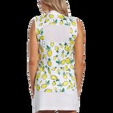Alternate View 1 of Summer Lemon Collection: Lemon Print Sleeveless 1/4 Zip Pull Over