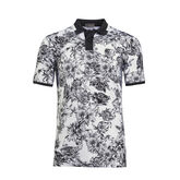 Floral Toille Printed Polo Front Hollow