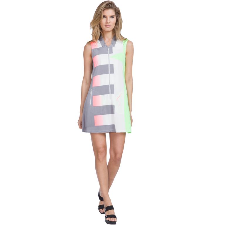 Super Nova Collection: Luminous Sleeveless Zip Dress
