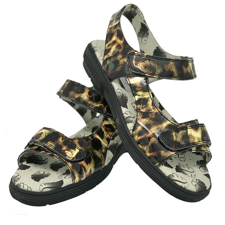 Two Strap Women's Spikeless Golf Sandal - Leopard