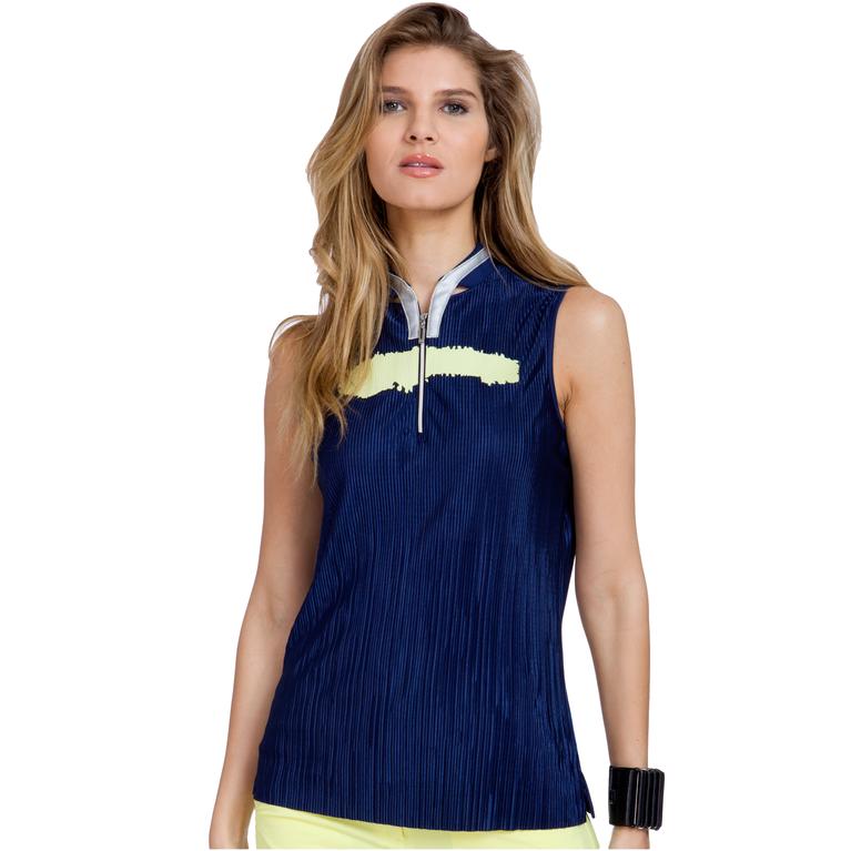 Butter Collection: Sleeveless Crunch Polo Shirt