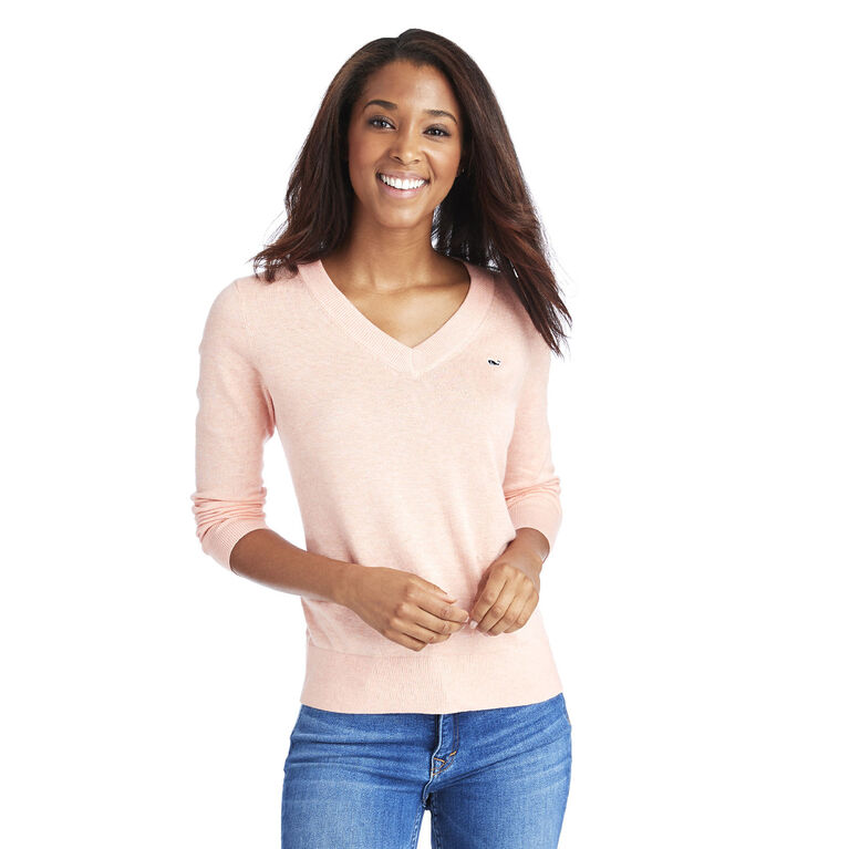 Vineyard Vines Heritage Cotton V-Neck Sweater