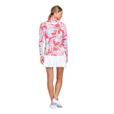 Alternate View 5 of Fun the Sun Collection: Petals Print Quarter Zip Pull Over