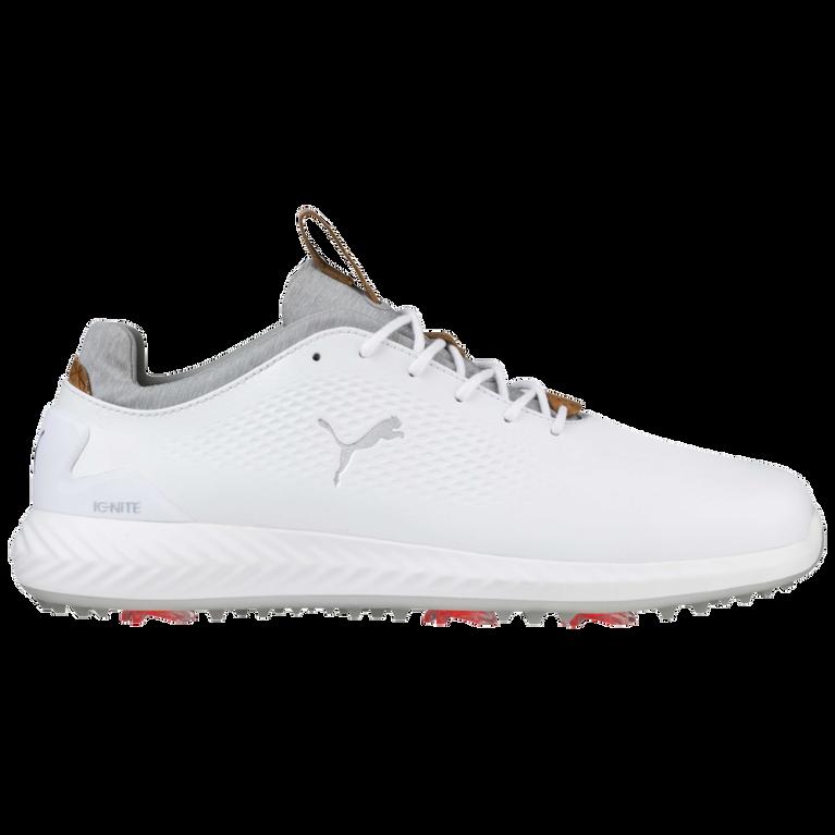 PUMA IGNITE PWRADAPT Leather Men's Golf Shoe - White