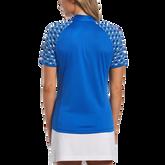 Alternate View 1 of Blue Geo Collection: Geo Print Short Sleeve 1/4 Zip Shirt