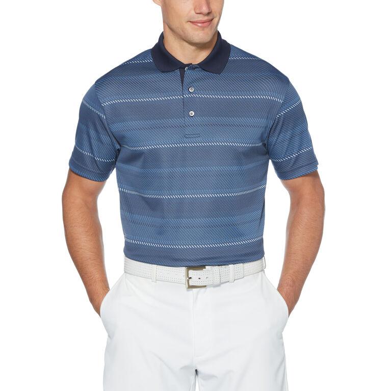 Stripe Jacquard Short Sleeve Golf Polo Shirt